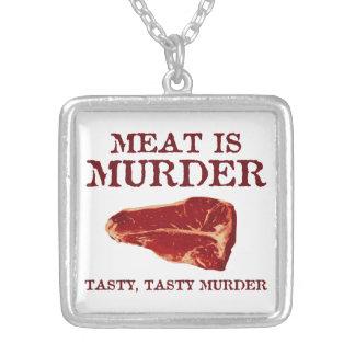 La carne es asesinato sabroso collar personalizado