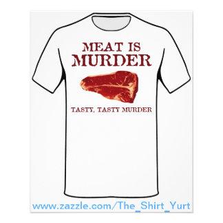 La carne es asesinato sabroso flyer a todo color
