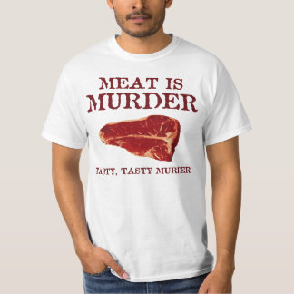 La carne es asesinato sabroso playera