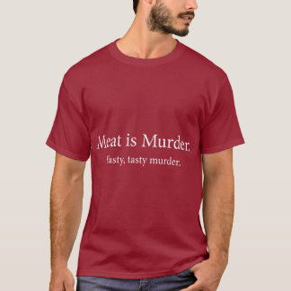 La carne es asesinato sabroso sabroso del playera