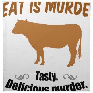 ¡La carne es asesinato! Servilletas De Papel