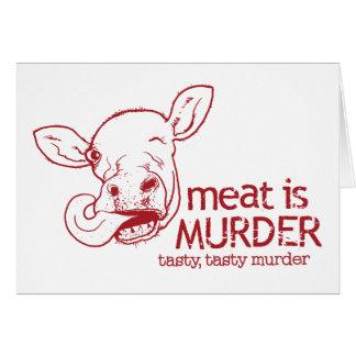 La carne es asesinato tarjeta