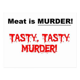 La carne es asesinato postal