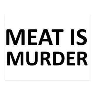 La carne es asesinato postales