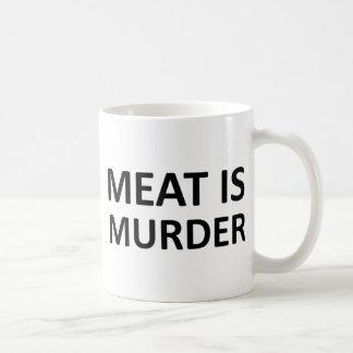 La carne es asesinato taza básica blanca