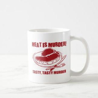 La carne es asesinato taza clásica