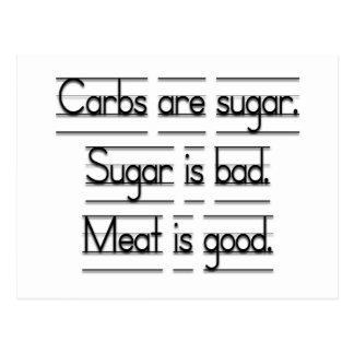 La carne es buena postales