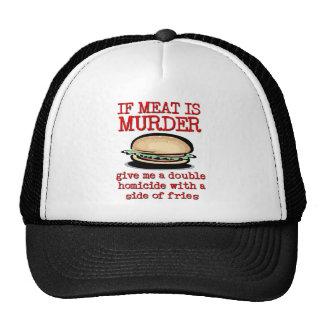 La carne es humor divertido del gorra del casquill