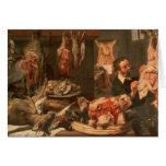 La carnicería tarjeta de felicitación