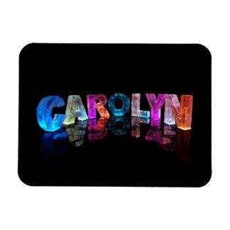 La Carolyn conocida en las luces 3D Imán De Vinilo