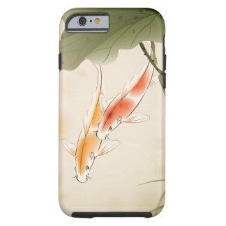 La carpa japonesa pesca la natación en la charca funda de iPhone 6 tough