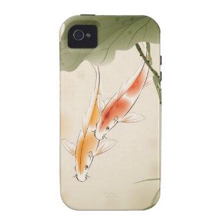 La carpa japonesa pesca la natación en la charca iPhone 4/4S carcasa