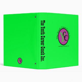 La carpeta de anillo del verde 3 de YCC Inc.