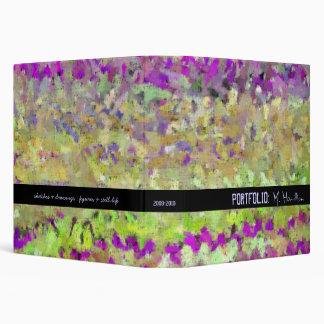 La carpeta de la cartera de la paleta del artista