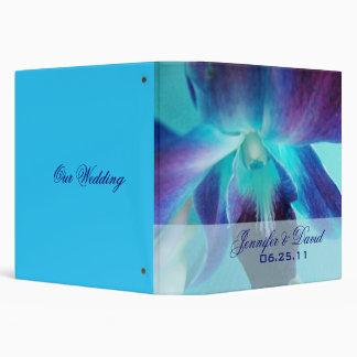 La carpeta del boda de la orquídea azul