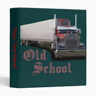 La carpeta del camionero de la escuela vieja