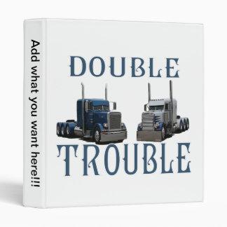 La carpeta del camionero doble del problema
