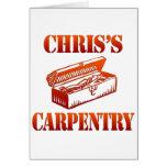 La carpintería de Chris Felicitación