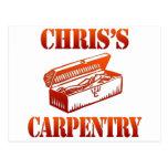 La carpintería de Chris Tarjetas Postales