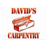 La carpintería de David Tarjeta Postal