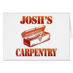 La carpintería de Josh Tarjeta