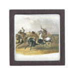 La carrera de caballos de los indios de Siux acerc Caja De Regalo De Calidad