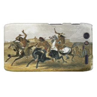 La carrera de caballos de los indios de Siux acerc Droid RAZR Funda