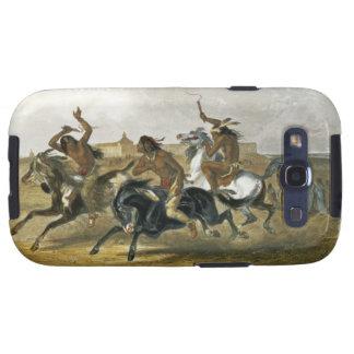 La carrera de caballos de los indios de Siux acerc Galaxy S3 Fundas