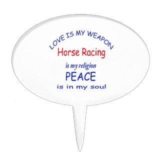 La carrera de caballos es mi religión figuras de tarta