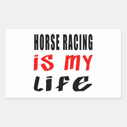 La carrera de caballos es mi vida rectangular altavoces