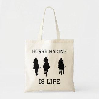 La carrera de caballos es vida bolsas