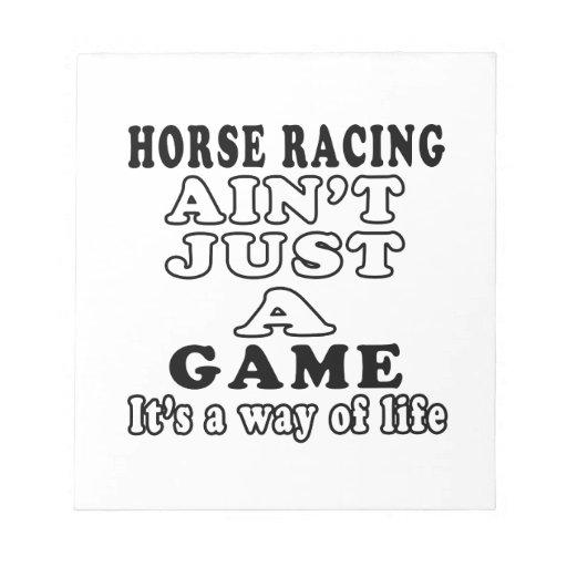 La carrera de caballos no es apenas un juego que e libretas para notas