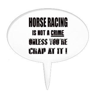 La carrera de caballos no es un crimen figura para tarta