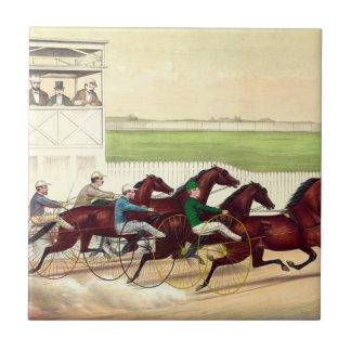 La carrera de caballos SUPERIOR es mi vida Azulejo Cuadrado Pequeño