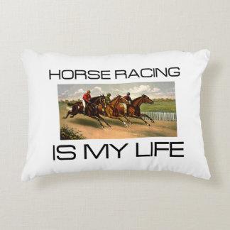 La carrera de caballos SUPERIOR es mi vida Cojín