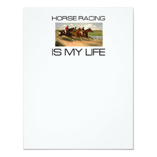 """La carrera de caballos SUPERIOR es mi vida Invitación 4.25"""" X 5.5"""""""