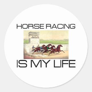 La carrera de caballos SUPERIOR es mi vida Pegatina Redonda
