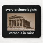 la carrera de cada arqueólogo está en ruinas tapete de ratón