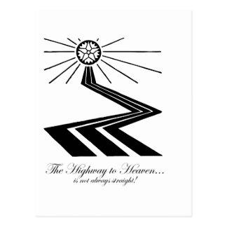 ¡La carretera al cielo no es siempre recta! Postal
