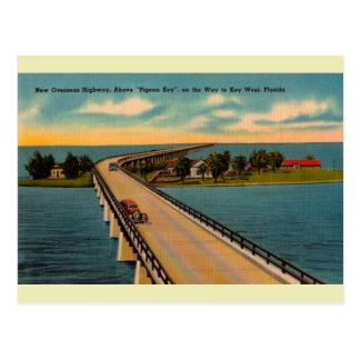La carretera de ultramar la Florida del vintage Tarjetas Postales