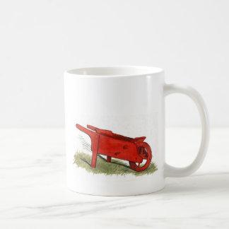 La carretilla roja taza básica blanca