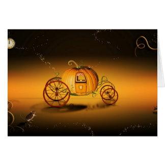 La carroza de Halloween - Tarjeton
