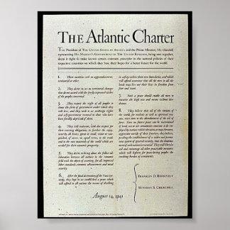 La carta atlántica poster