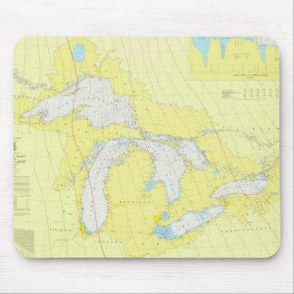 La carta de Great Lakes Tapete De Ratón