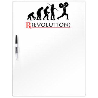 La carta de la evolución de RX grande seca al tabl Pizarras Blancas