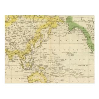 La carta de Mercator 2 Tarjeta Postal