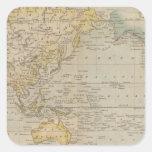 La carta de Mercator Calcomania Cuadradas Personalizada