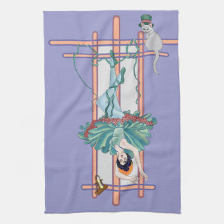 La carta de tarot colgada de la mujer toallas de cocina