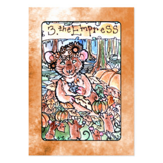 La carta de tarot de la emperatriz tarjeta de visita