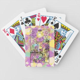 La carta de tarot de la estrella cartas de juego